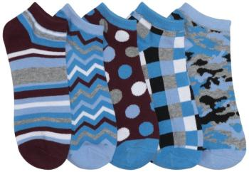 6-5pr packs of No Show Socks-OS-Assorted (CH-BLUEBAYOU-AST-OS)