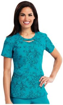 Round Neck Top Brilliant Blooms (CA-CA602X15)