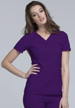 V-Neck Knit Panel Top (CH-CK605)