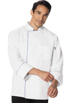 Unisex Cool Breeze Chef Coat with Piping (DC-DC411)