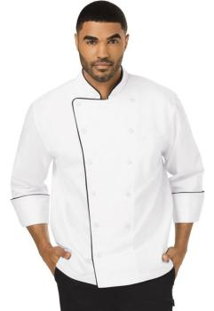 Unisex Executive Chef Coat with Piping (DC-DC42B)