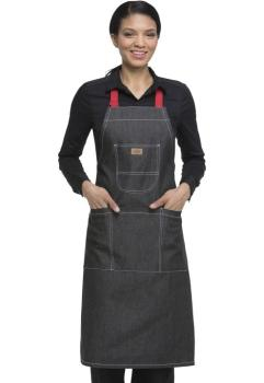 Bib Apron with Red Straps (DC-DC592R)