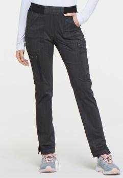 Mid Rise Tapered Leg Rib Knit Waist Pant (DI-DK165)