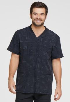 Men's Rib Knit V-Neck Top (DI-DK607)