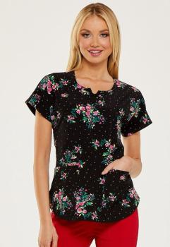Rose Garden Round Neck Top (HE-HS685)