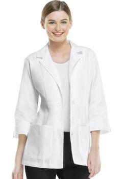 "29"" 3/4 Sleeve Lab Coat-XS-White (CH-2330)"